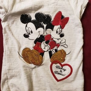 Mickey and Minnie sequin T-shirt